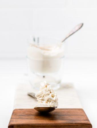 Dairy Free Whipped Cream {Coconut Whipped Cream   Vegan}