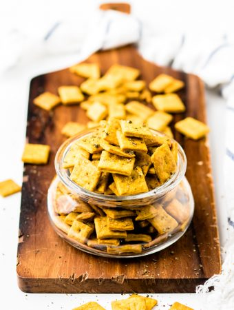 Dairy Free Cheese Crackers (Vegan)