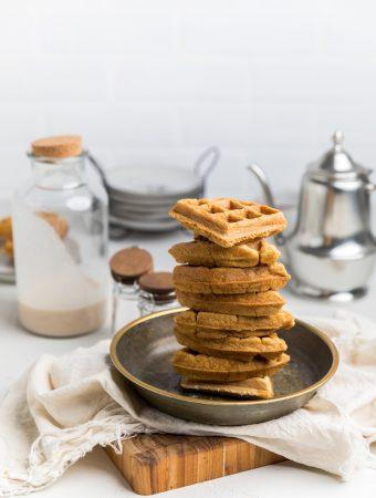 Dairy Free Eggnog Waffles (Vegan)