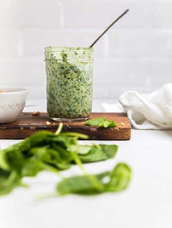 Spinach & Walnut Dairy Free Pesto (Vegan)