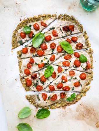 Dairy Free Cauliflower Pizza Crust (Vegan)