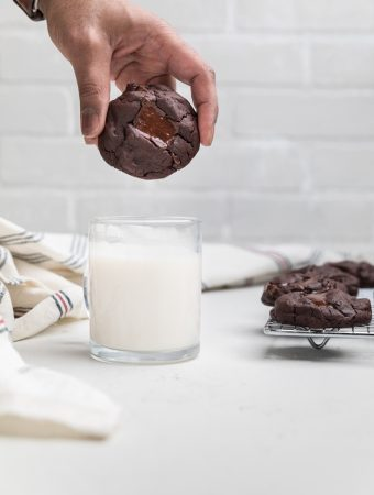 Dairy Free Triple Chocolate Chip Cookies (Vegan)