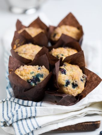 Vegan Blueberry Muffins (Dairy Free/Egg Free)