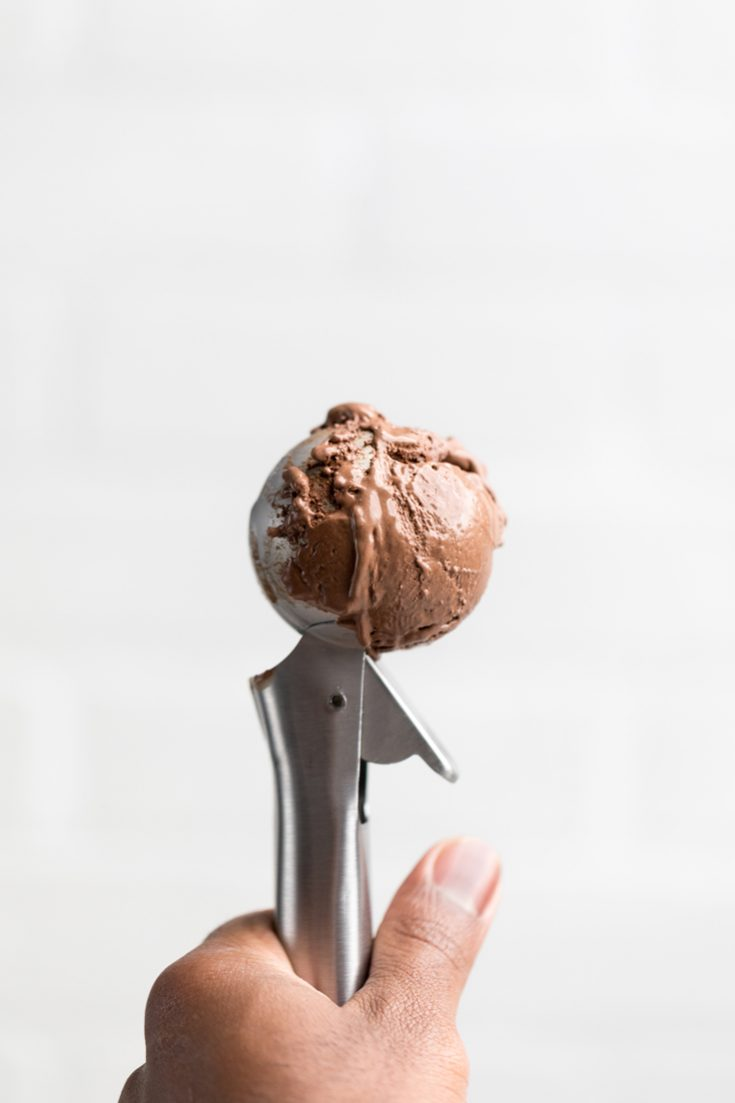 Vegan Chocolate Ice Cream (No Churn)