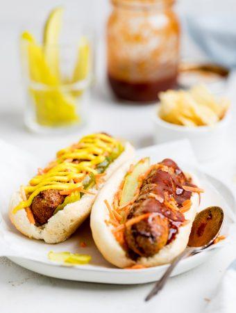 Homemade Vegan Hot Dogs Recipe