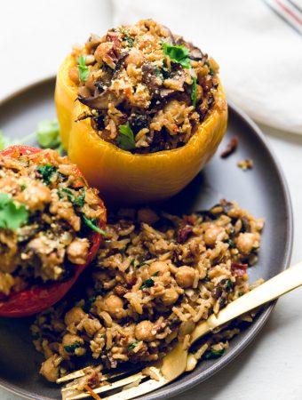 Tuscan Style Vegan Stuffed Peppers