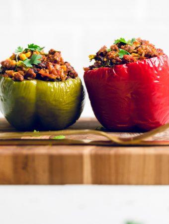 Vegan Chorizo Mexican Stuffed Peppers