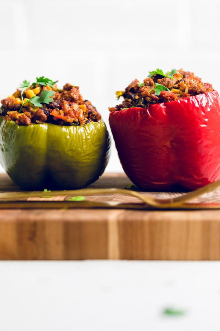Vegan Chorizo Mexican Stuffed Peppers