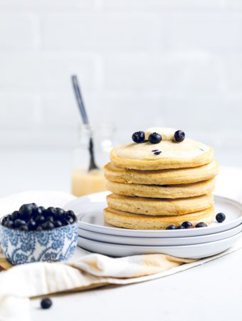 Vegan Lemon Blueberry Pancakes