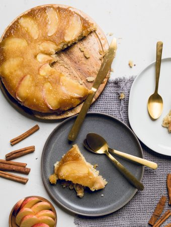 Vegan Apple Upside Down Cake