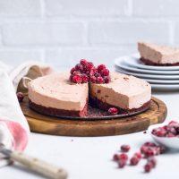 No Bake Vegan Chocolate Cheesecake