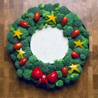 Christmas Veggie Tray Wreath - Make It Dairy Free