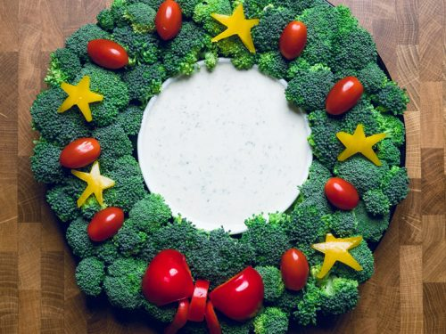Brilliant Christmas Veggie Tray Wreath Make It Dairy Free Funny Birthday Cards Online Elaedamsfinfo