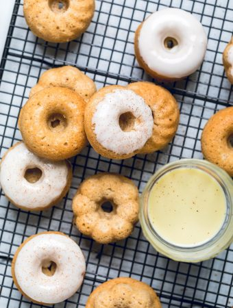 Vegan Eggnog Donuts