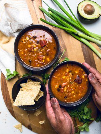 Instant Pot Vegan Taco Soup