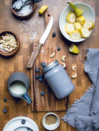 Vegan Blueberry Coconut Smoothie