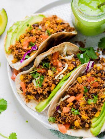 Vegan Quinoa and Black Bean Tacos
