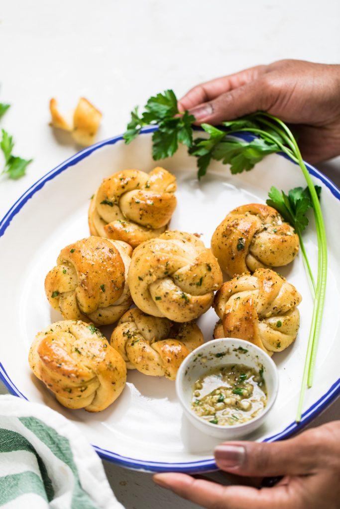 Vegan Garlic Knots Make It Dairy Free