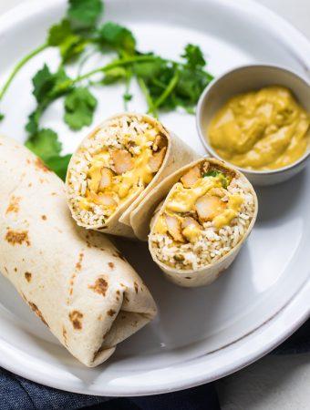 Vegan Cheesy Potato Burritos