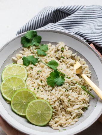 Vegan Cilantro Lime Rice