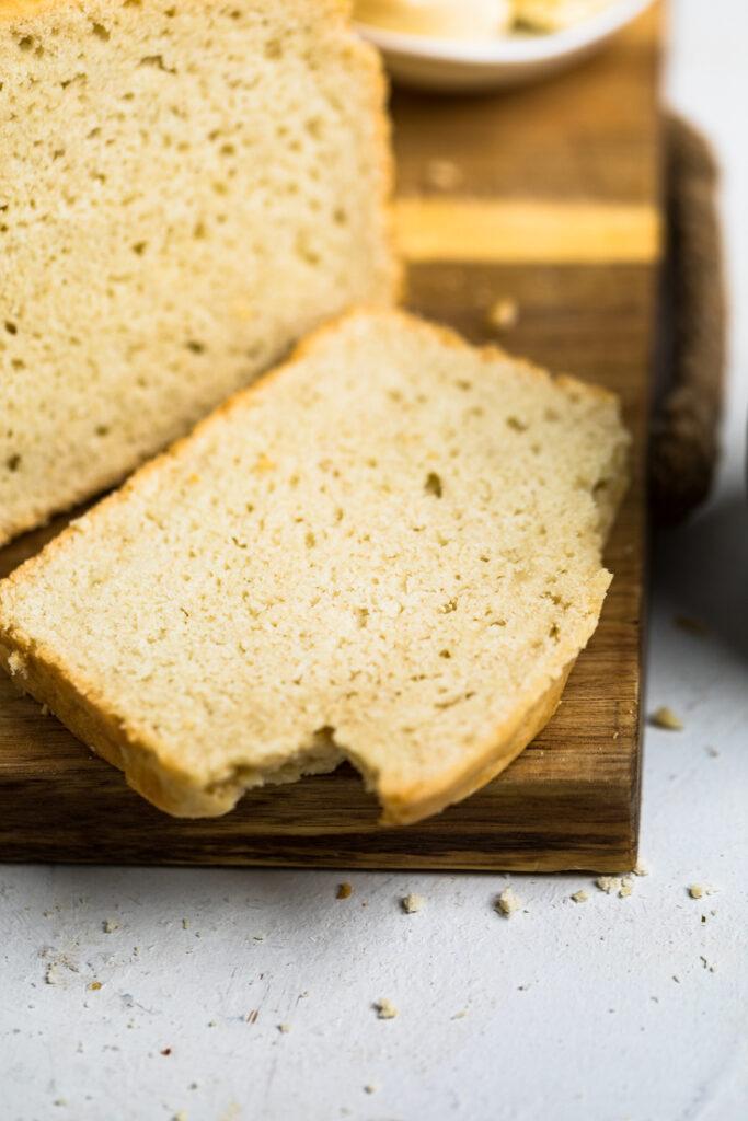1 slice of yeast free vegan bread